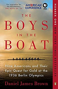 Book jacket for The Boys in the Boat by Daniel James Brown