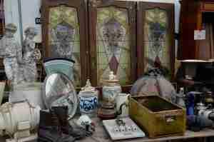 Wares for sale at IJ-Hallen markt