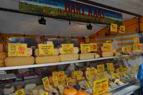 Cheese for sale in Albert Cuyp Markt