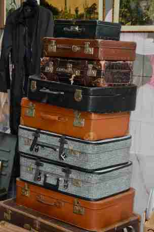 Suitcases for sale at IJ-Hallen flea market