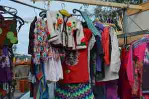 Clothes for sale at IJ-Hallen flea market