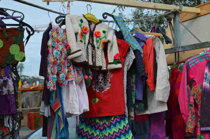 Clothes for sale at IJ-Hallen flea market