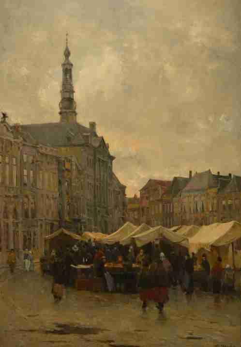 Den Bossch Markt by Piet Slager