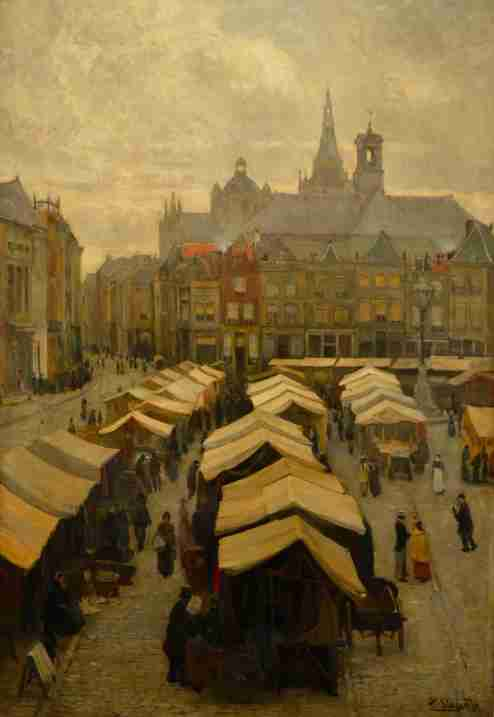 Marktdag by Piet Slager