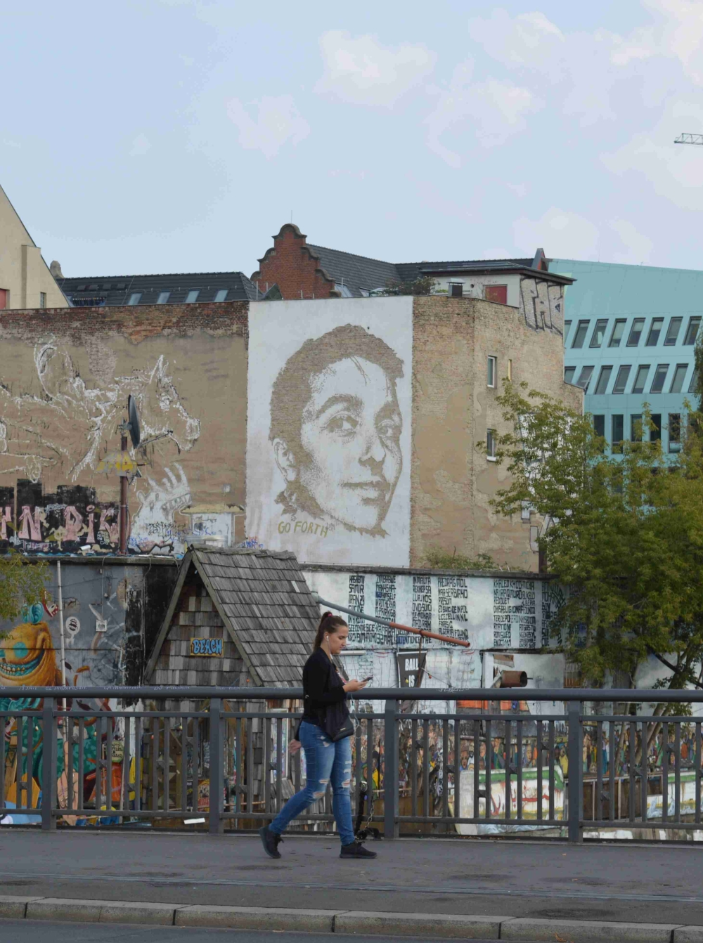 Photo of street art by Vhils