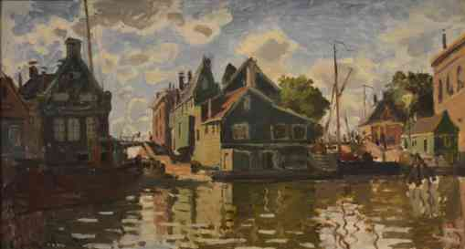 Claude Monet's painting of Canal in Zaandam
