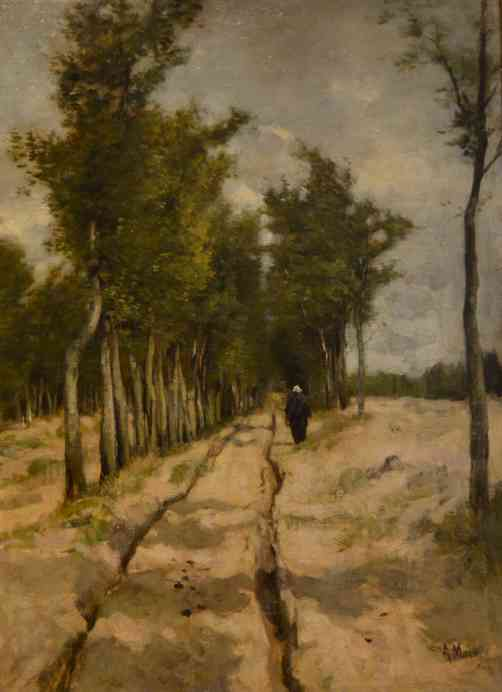 Painting by Anton Mauve entitled Torenlaan in Laren