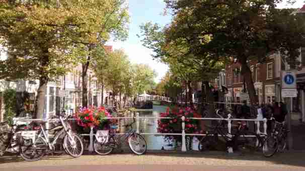 Canal view in Delft