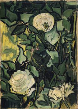 White Wild Roses by VIncent Van Gogh