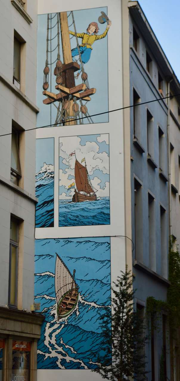 Cori the Cabin boy mural by de Moor